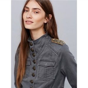 Free People Embellished Cropped military